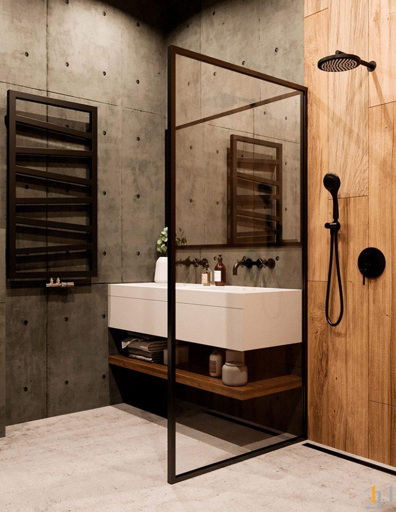 black-frame-shower-screen