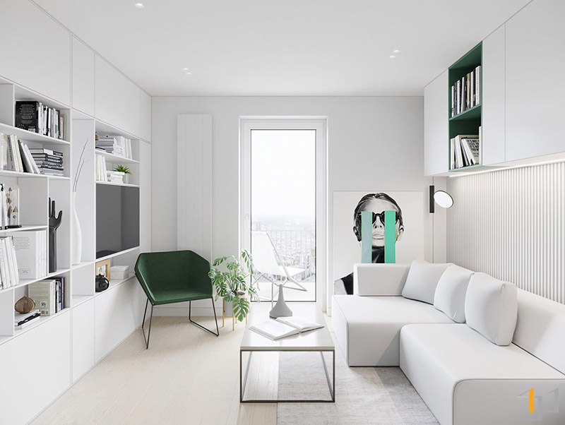 green-accent-chair