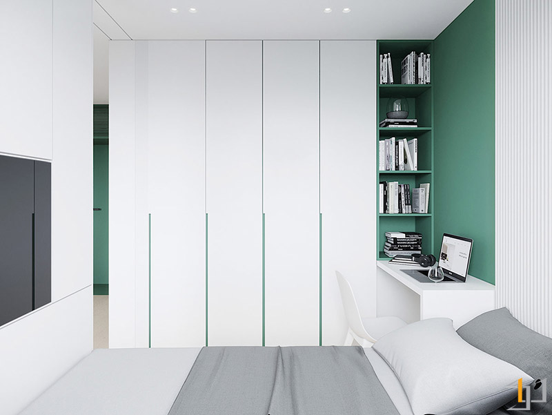 green-accent-wardrobes