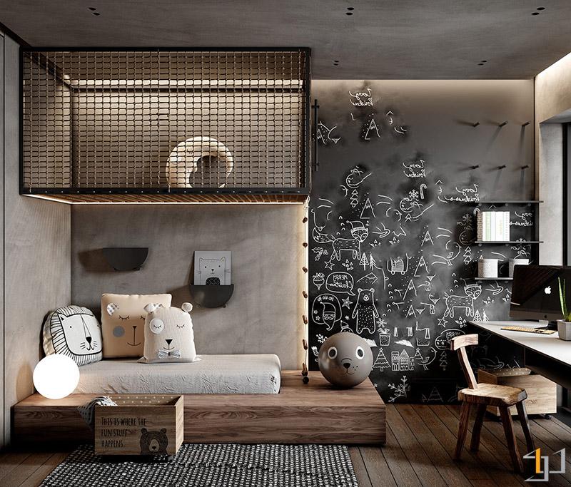 industrial-kids-room