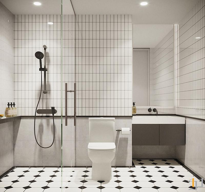 monochrome-bathroom