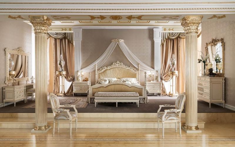 phòng ngủ lấy cảm hứng từ phong cách Cổ điển Ý