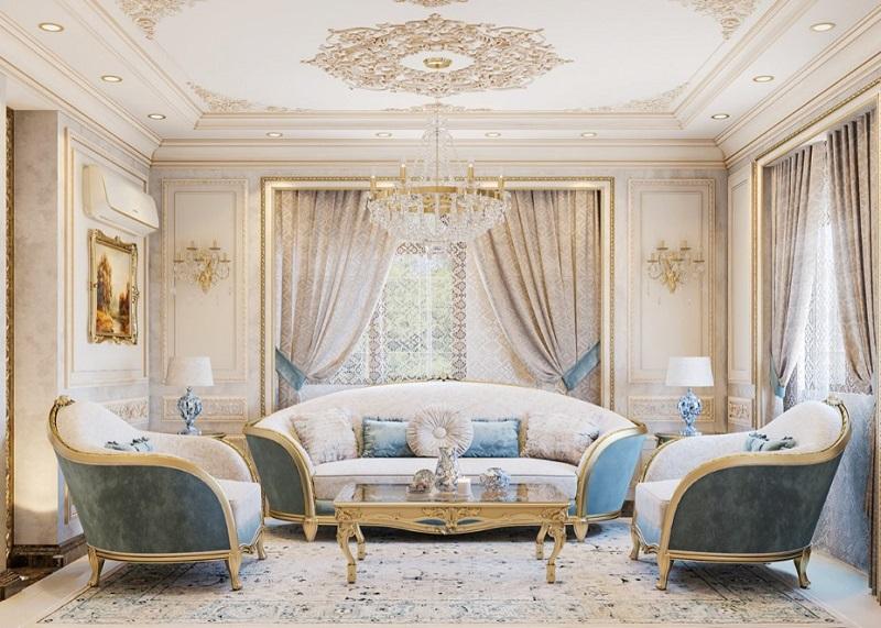 Nội thất phòng khách trang nhã tận dụng hiệu quả các nguồn sáng xung quanh