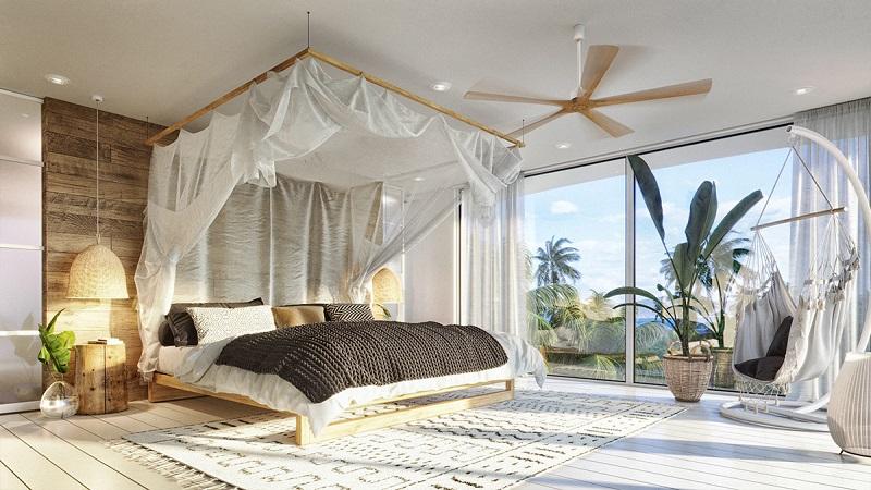 Bố trí nội thất phòng ngủ trong thiết kế nội thất biệt thự hiện đại