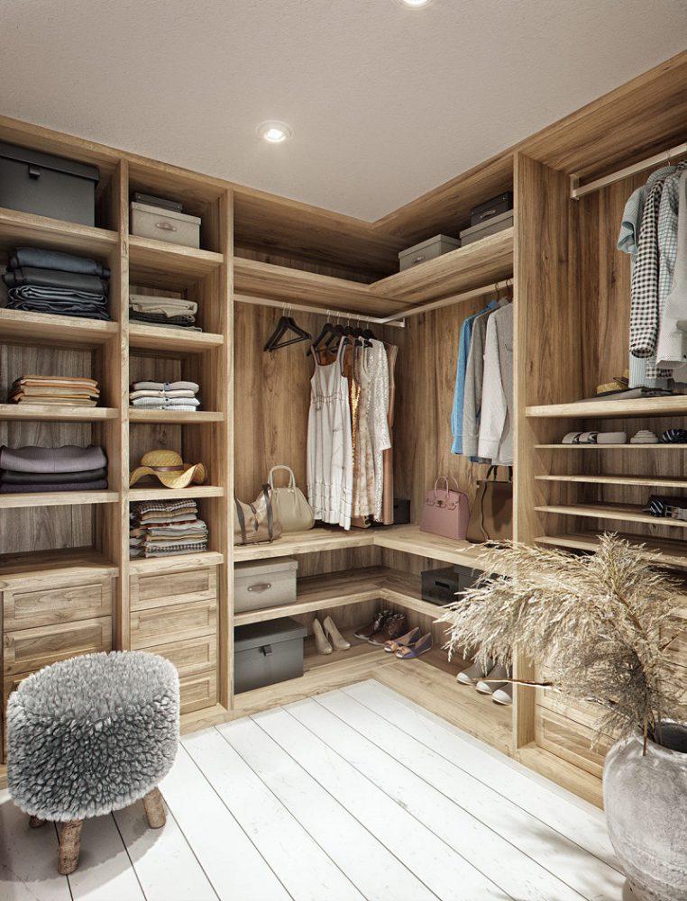 Tủ quần áo trong thiết kế nội thất biệt thự hiện đại