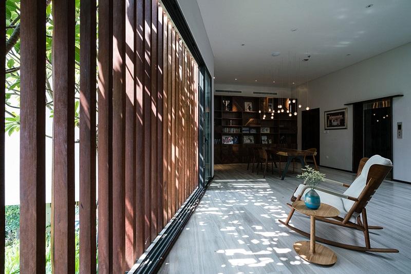 Góc thư giãn trong thiết kế nội thất biệt thự hiện đại