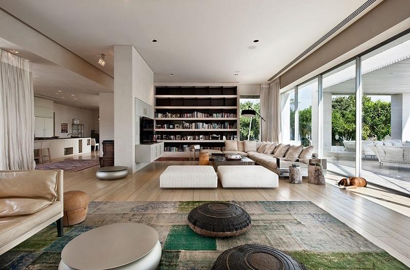 Bố trí phòng khách trong thiết kế nội thất biệt thự hiện đại