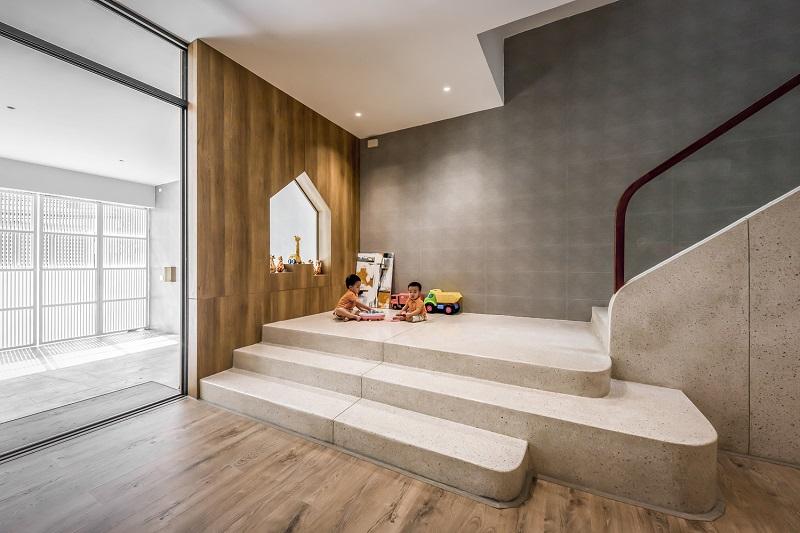 Sảnh vào nhà trong thiết kế nội thất biệt thự liền kề