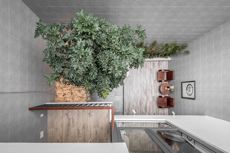 Tầm nhìn từ trên xuống trong thiết kế nội thất biệt thự liền kề