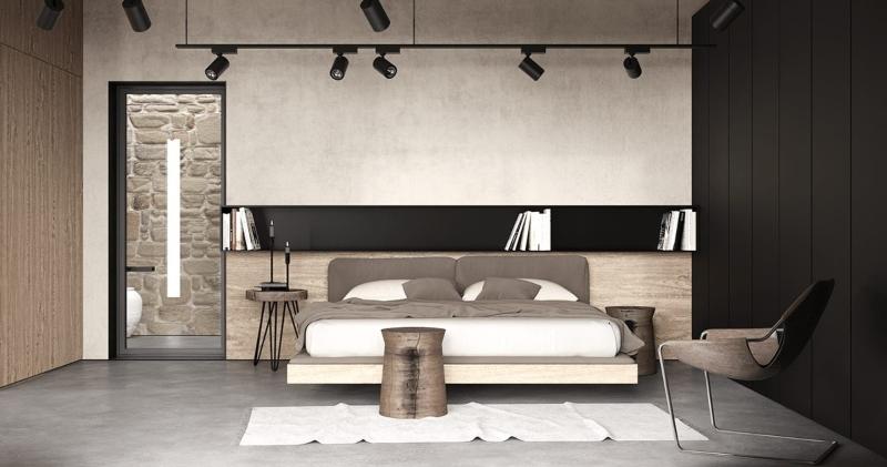 Thiết kế nội thất phòng ngủ Master tối giản