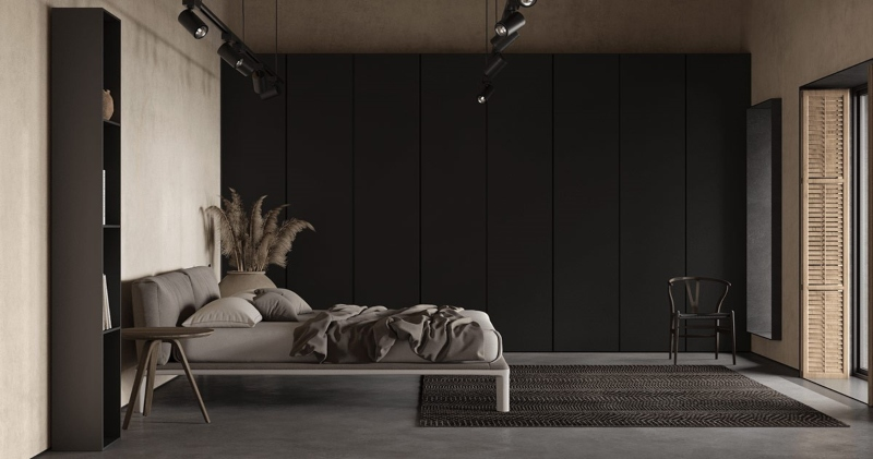Phòng ngủ phụ màu trung tính mộc mạc