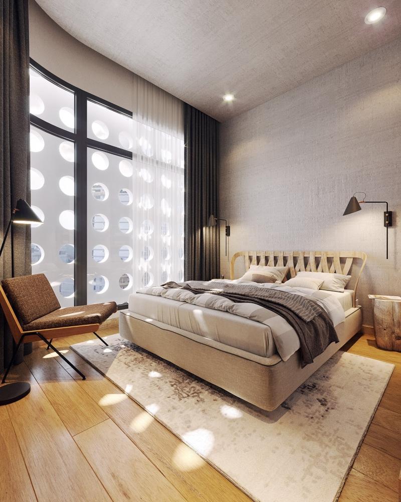 Không gian nội thất phòng ngủ biệt thự mini