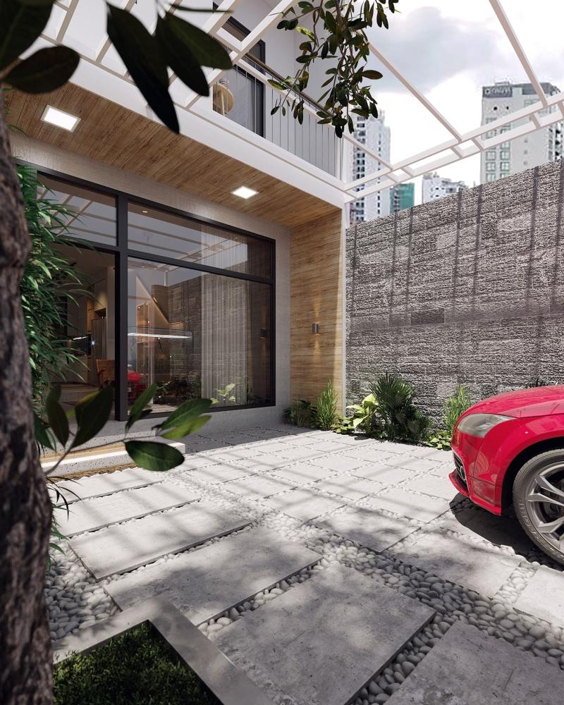 Thiết kế nội thất biệt thự mini hiện đại