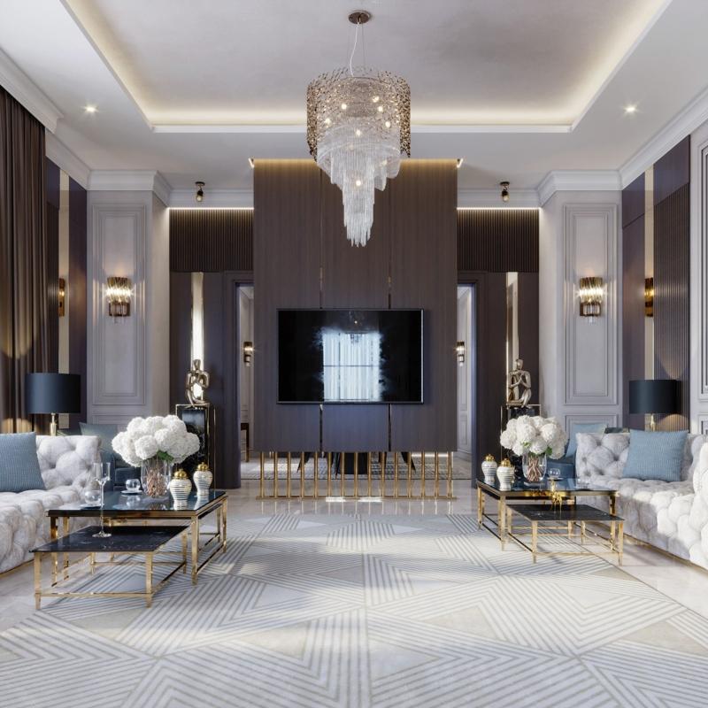 Thiết kế nội thất biệt thự sang trọng
