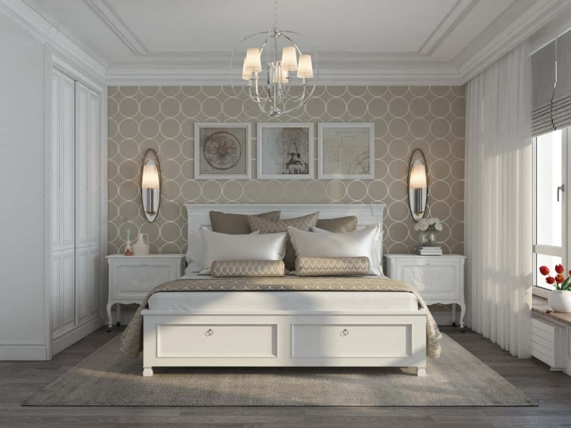 Phòng ngủ phụ bố trí đơn giản và công năng