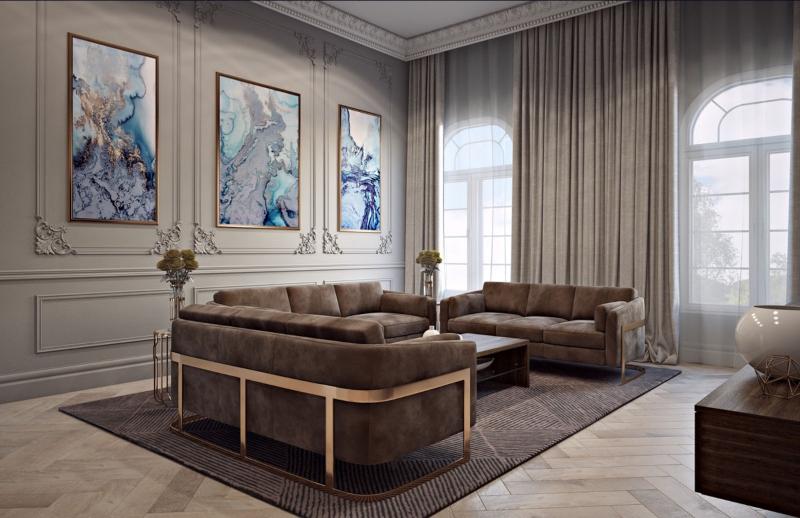 Trang trí tường phòng khách bằng tranh họa tiết độc đáo