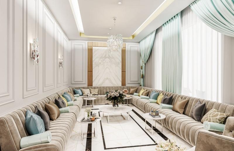 Phòng khách lớn của biệt thự
