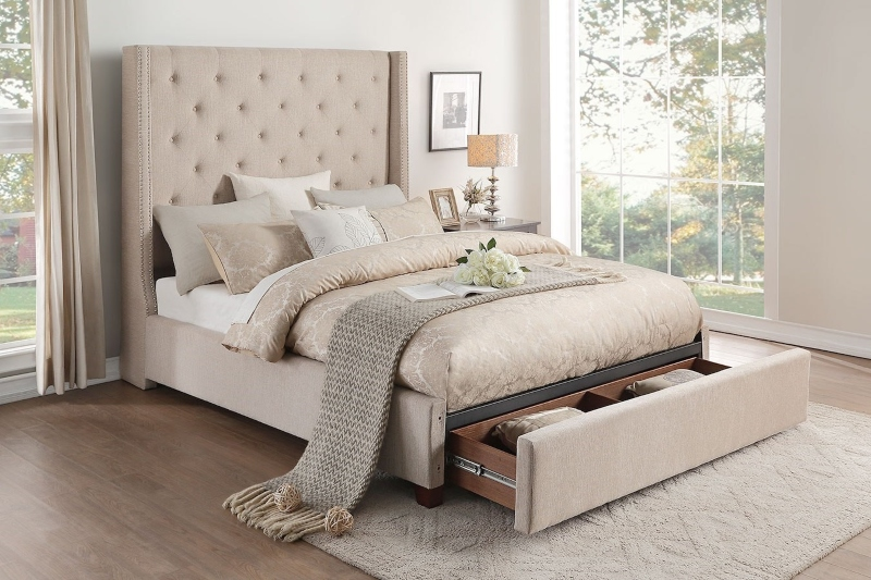 Giường nhung cao cấp cho phòng ngủ