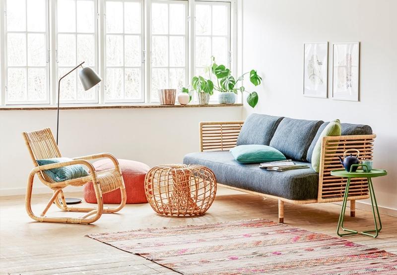 Trang trí nội thất bằng vật dụng mây tre đan