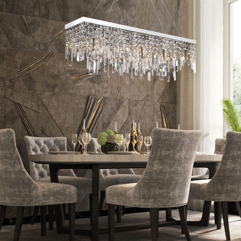Trang trí phòng ăn bằng đèn thả trần