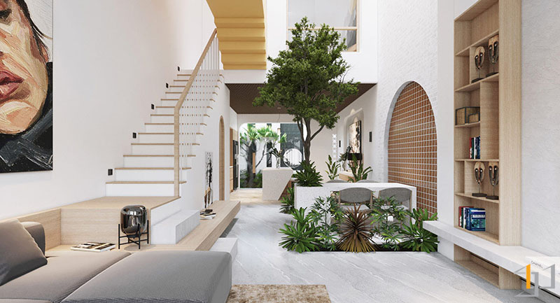 white-and-wood-staircase