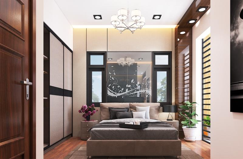 Thiết kế nội thất phòng Master của nhà phố Tân cổ điển