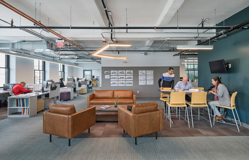 Không gian sinh hoạt trong văn phòng
