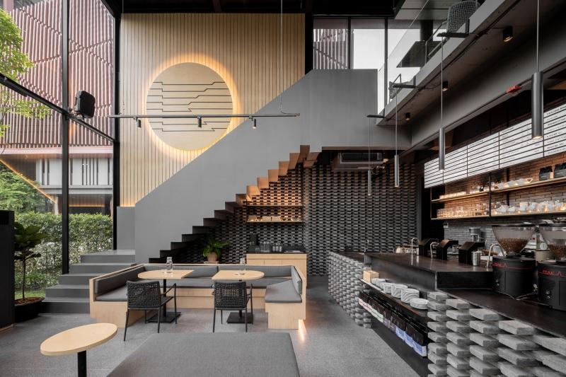 Quán cà phê có thiết kế hai tầng