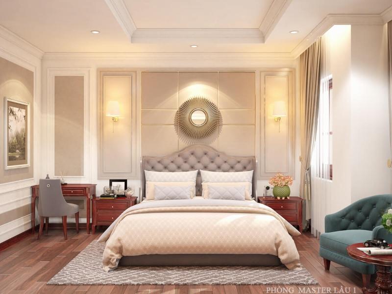 Phòng ngủ Master lầu 1 của ngôi nhà