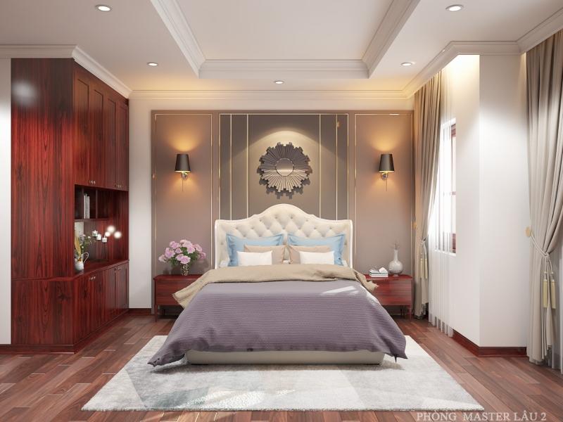 Phòng ngủ Master lầu 2 của ngôi nhà