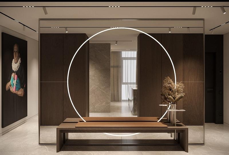 Thiết kế nội thất giá rẻ khu vực tiếp đón khách sang trọng