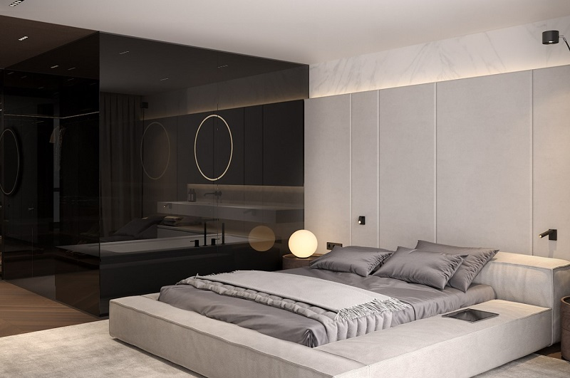 Thiết kế nội thất giá rẻ phòng ngủ Đương đại