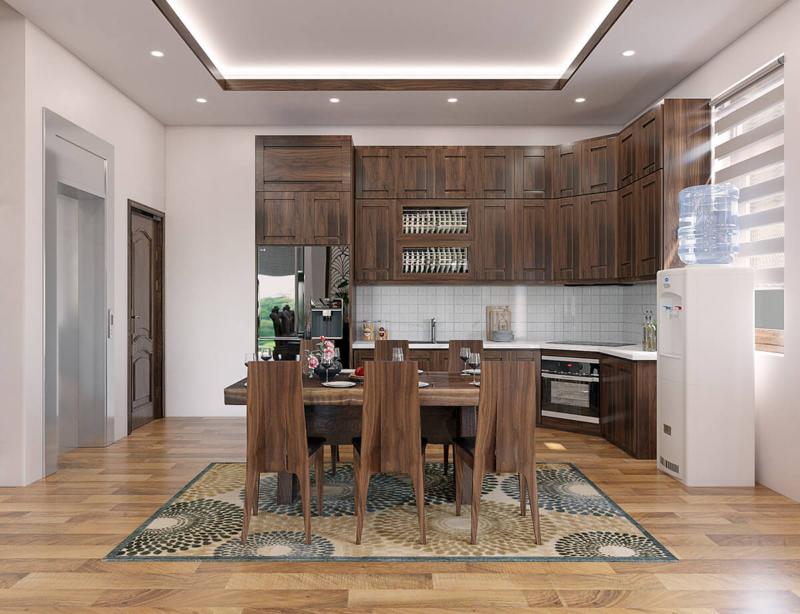 Phòng bếp rộng rãi và thông thoáng