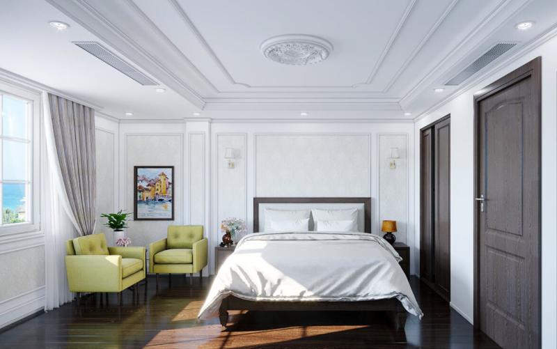 Phòng ngủ Master được bố trí cạnh cửa sổ thông thoáng