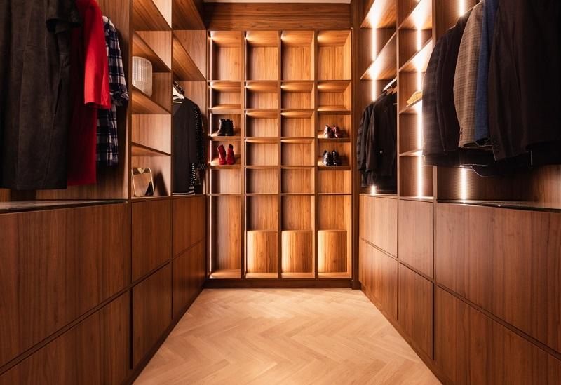 Thiết kế nội thất giá rẻ phòng thay đồ