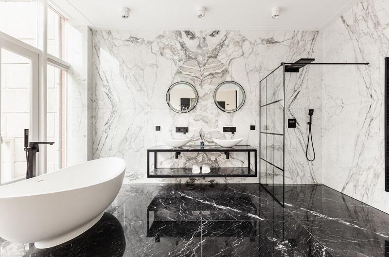 Thiết kế nội thất giá rẻ phòng tắm tân cổ điển