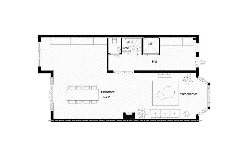 Thiết kế nội thất giá rẻ sơ đồ nhà phố tân cổ điển