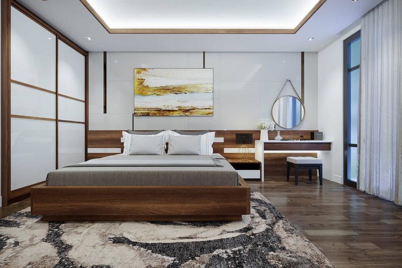 Bố trí nội thất phòng ngủ Master nhà phố đẹp