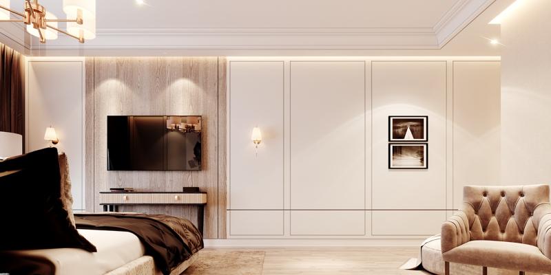 Phòng ngủ được bố trí tiện nghi