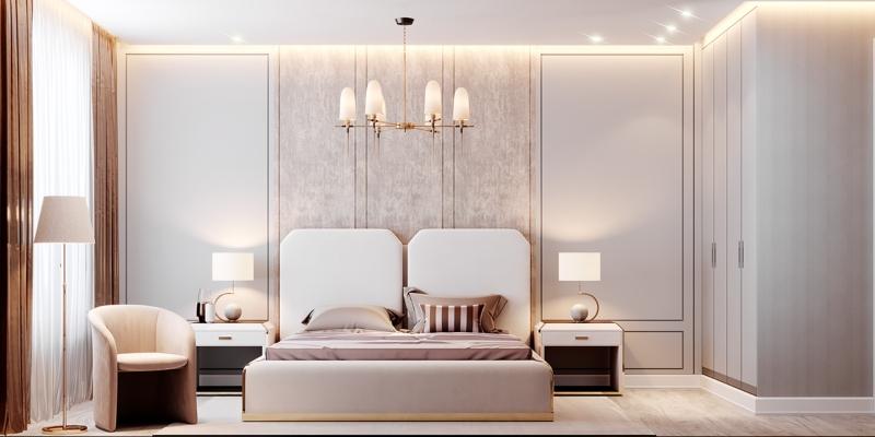 Phòng ngủ phụ hiện đại và thời trang
