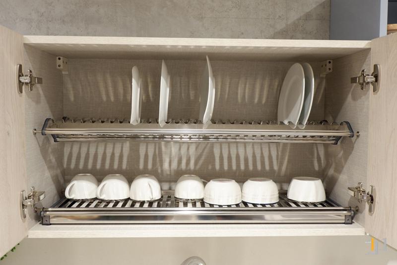 Kệ chén bát tủ bếp trên tủ bếp