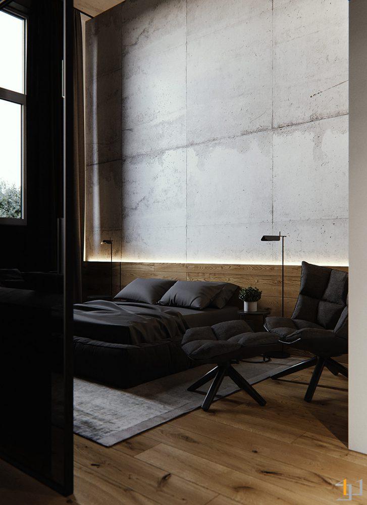 black-and-wood-bedroom-decor