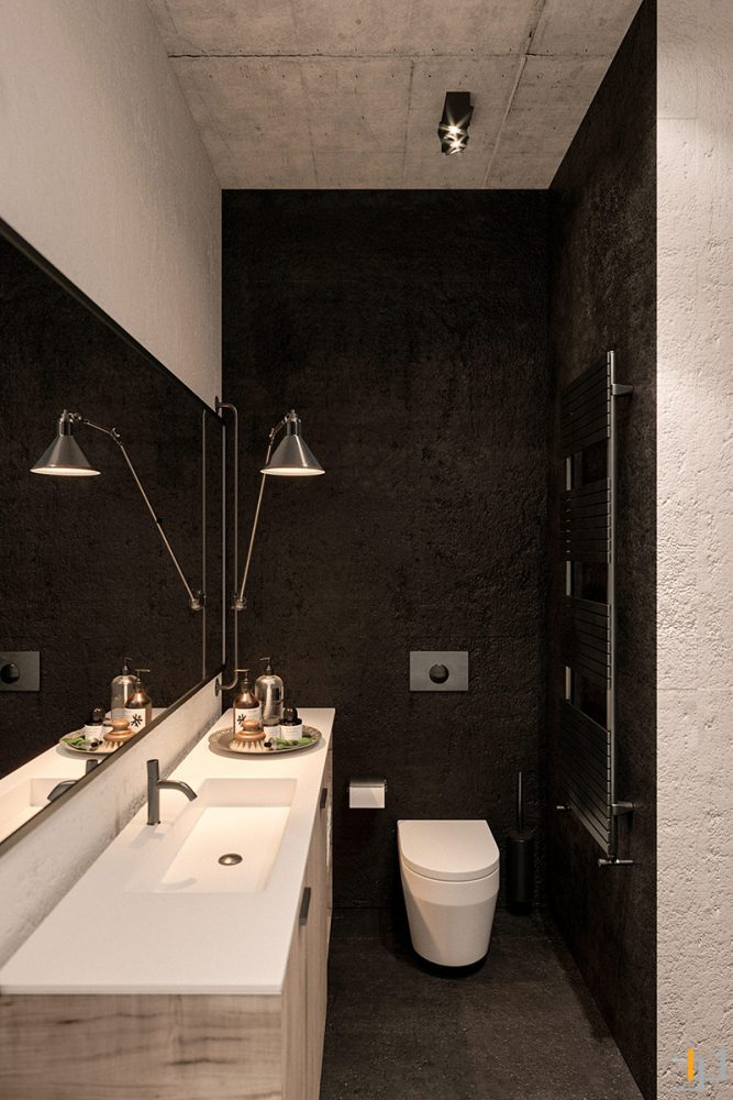 black-bathroom-decor