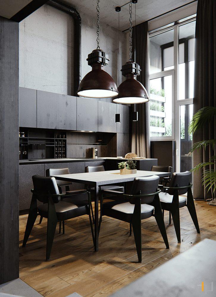 black-dining-kitchen