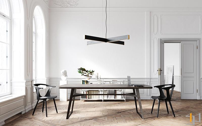 black-dining-set