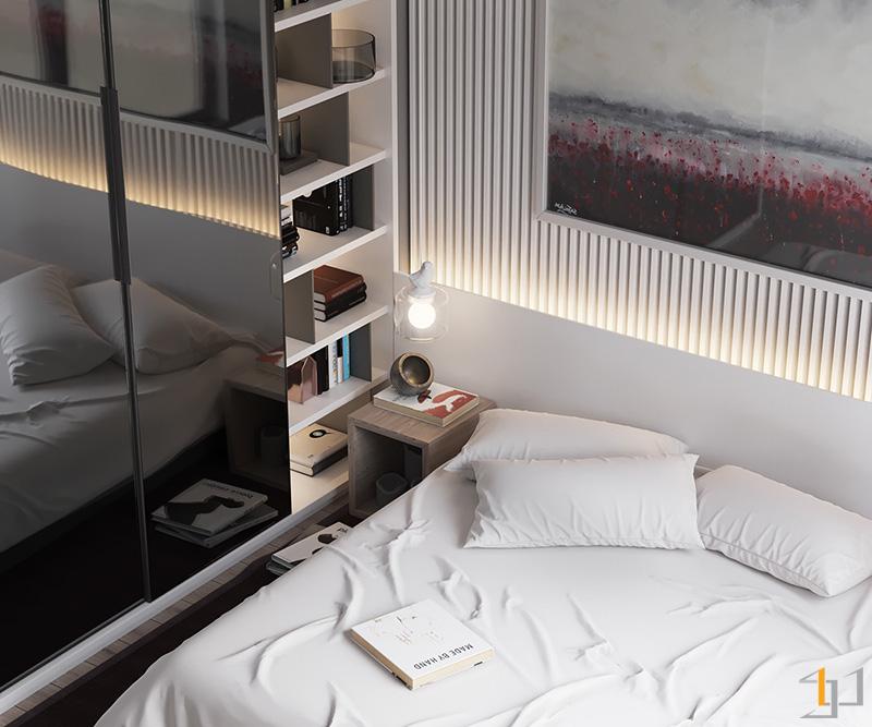 bookcase-enclave-minimalist-bedroom