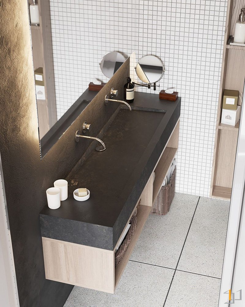 charcoal-slate-benchtop-minimalist-bathroom