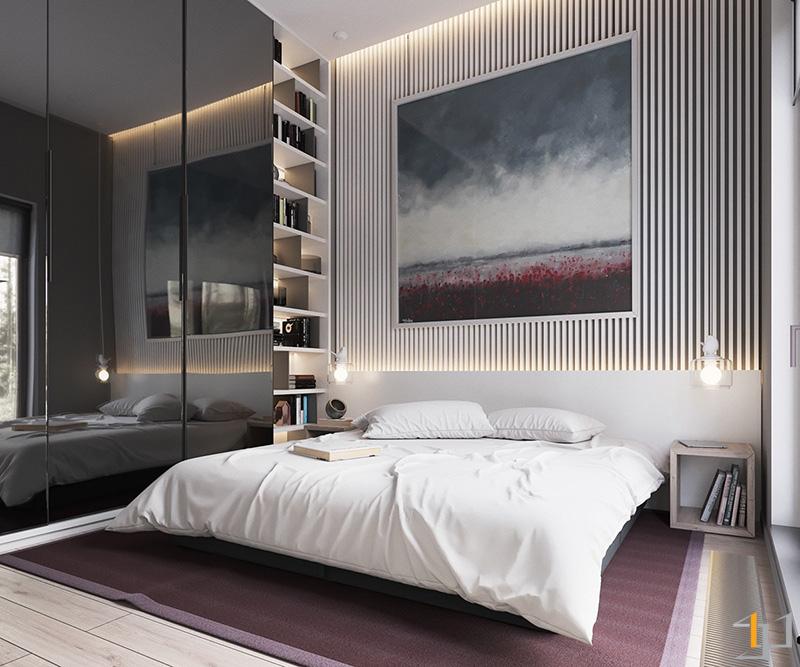 dark-tinted-glass-wardrobe-doors-muted-bedroom