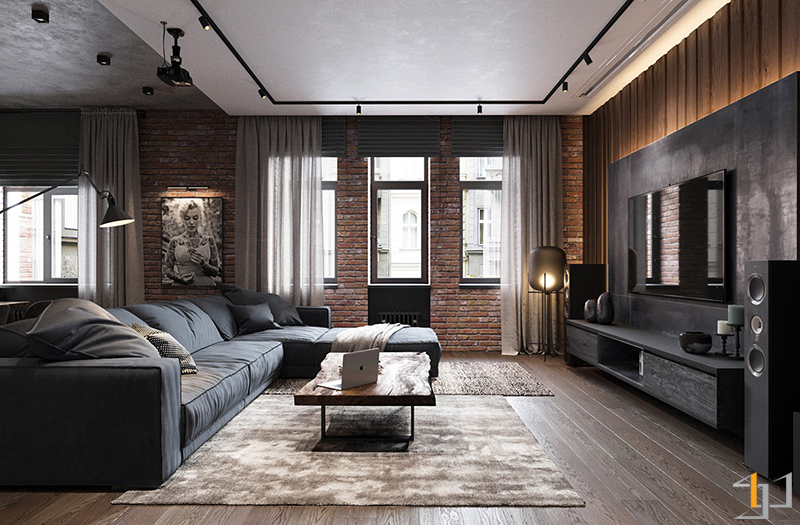 industrial-style-living-room