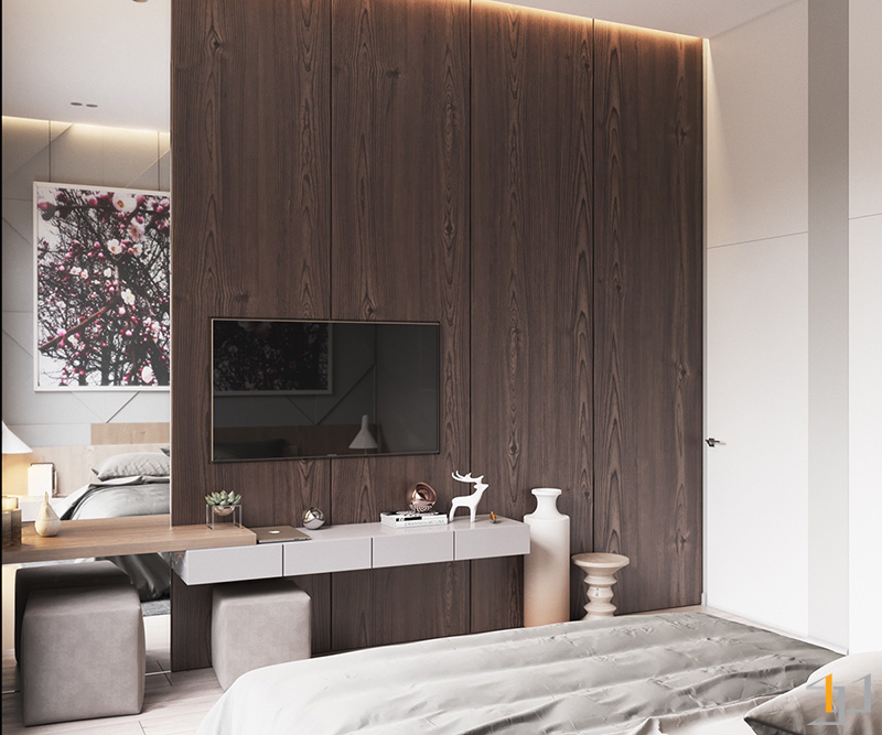 mirrored-panel-elongating-space-simple-bedroom